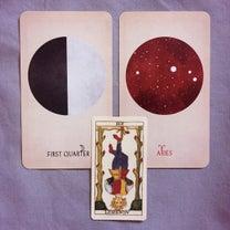 上弦の月 + カードからのメッセージの記事に添付されている画像