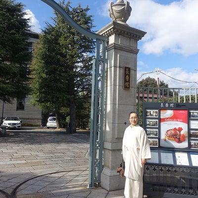 """京都の鹿鳴館?""""長楽館""""で誕生日お祝い!白着物オールホワイトコーデ(1話)の記事に添付されている画像"""