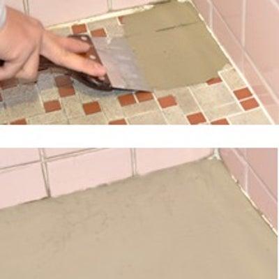 タイルの上からクッションフロアを貼る方法の記事に添付されている画像