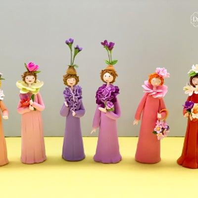 生徒さんのレッスン作品( 自宅教室:フラワーコース3 花の妖精 )の記事に添付されている画像