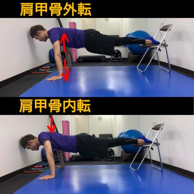 肩甲骨を動かす体幹トレの記事に添付されている画像