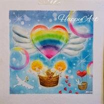 HappyArtオリジナルアート「Happyハート気球の天使ちゃん」の記事に添付されている画像