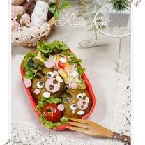 百均のしめ縄と…【キャラ弁★*いのしし親子のお弁当*(自分弁)】の記事に添付されている画像