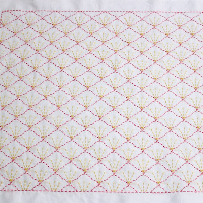 刺し子ふきん : 梅花紋の記事に添付されている画像