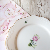 チャイナペインティング作品♡ウィーンの薔薇♡の記事に添付されている画像