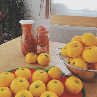 韓国語で柚子茶作りレッスンの記事に添付されている画像