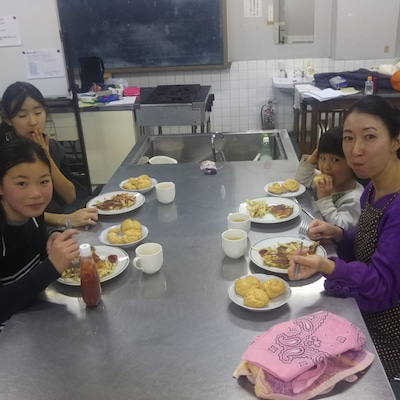 【地球の家・活動レポート】1/9(水)食育 ジャガイモの米粉ガレット&米粉のシュの記事に添付されている画像