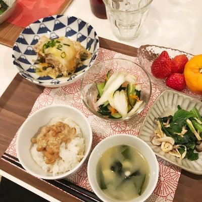 白菜の重ね蒸し朝ごはん*カルシウムおかずの記事に添付されている画像
