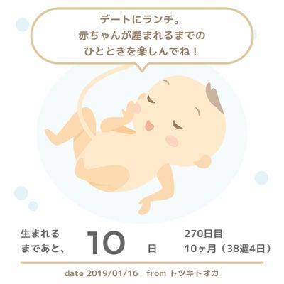 38週4日 妊婦健診の記事に添付されている画像