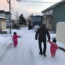 冬帰省1日目 雪の公園の記事に添付されている画像
