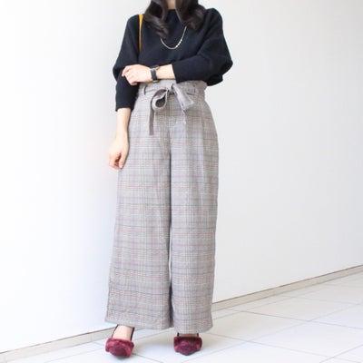 しまむらのお気に入りワイドパンツで着痩せコーデ♡の記事に添付されている画像