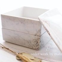 【オーダー作品】シルバー&大理石風でスタイリッシュな和の器の記事に添付されている画像