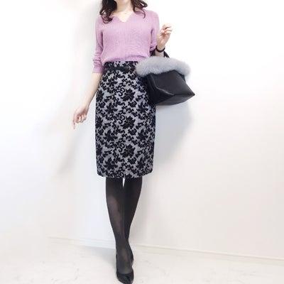 王道コンサバ通勤コーデ♡タイツのカラーの記事に添付されている画像