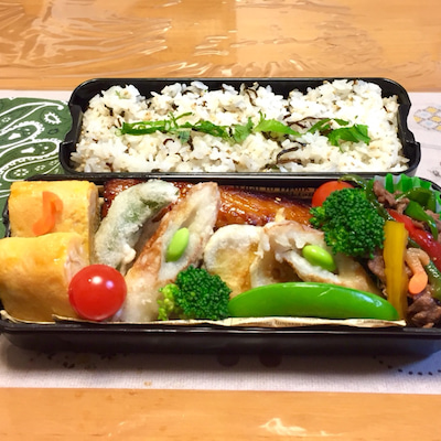 鯖のみりん干しと天ぷら弁当の記事に添付されている画像