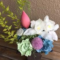 お供え ハスの花と実の記事に添付されている画像