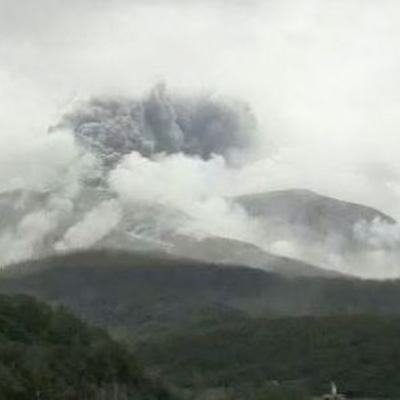 口永良部島で爆発的噴火、筒粥神事は「三分五厘」の記事に添付されている画像