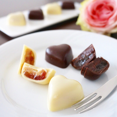 2018バレンタイン⑤紅茶ガナッシュのボンボンショコラ 【レシピ】の記事に添付されている画像