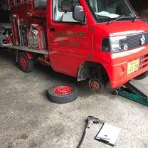 消防団  ポンプ車  点検の記事に添付されている画像