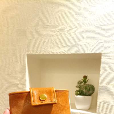 こどもミニかばん☆[エルサのミニ財布がピッタリ入る本革×帆布カバン]の記事に添付されている画像