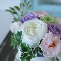 【今日の贈花】プリザーブドのお悔みミニアレンジ♪の記事に添付されている画像