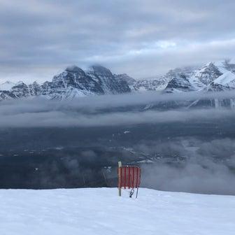 Banffで初めての雪