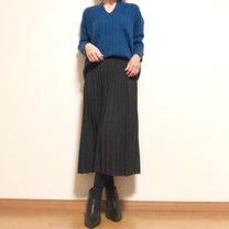 ニットプリーツスカートでシックにの記事に添付されている画像