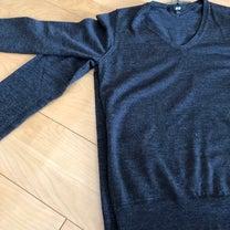 ユニクロのエクストラファインメリノのVネックセーターの記事に添付されている画像