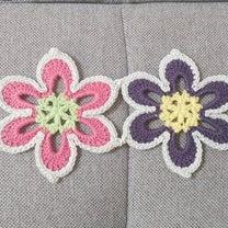 お花モチーフのカラフルブランケット、編み始め☆の記事に添付されている画像