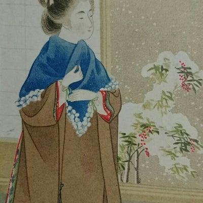 絵葉書・・・冬の装いの女性の記事に添付されている画像