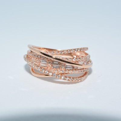K18ピンクゴールドダイヤモンドリングの記事に添付されている画像