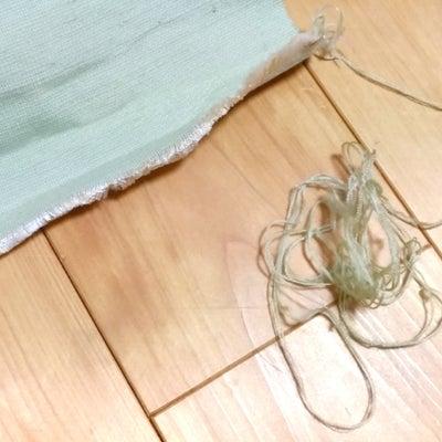 自作!上田紬半幅帯シリーズ21《半幅帯の端をかがる》の記事に添付されている画像