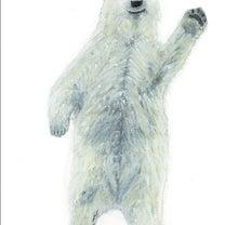 クレパス画「白いクマ」の記事に添付されている画像