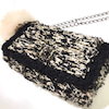 CHICFLIC  Tweed  style  Mofu Mofu fur bag ☆の画像