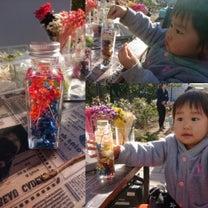 親子でハーバリウム作り。私のは青赤でまとめてみました♪の記事に添付されている画像