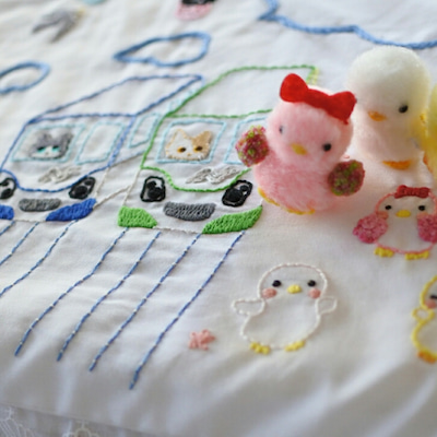 幼稚園の手作り刺繍の記事に添付されている画像