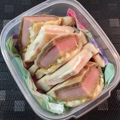 あきちゃんちのラララ♪お弁当♪ハムカツ 卵ホットサンド 編の記事に添付されている画像