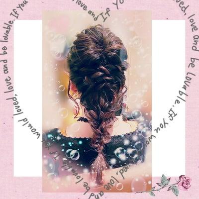 編みおろしスタイル和装婚礼洋装ブライダルヘア&メイクや着付けの他にもエステやまつの記事に添付されている画像