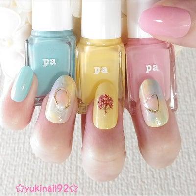 ☆大好きなpaネイルのパステルカラーを使った、簡単可愛い、パステルネイル☆の記事に添付されている画像