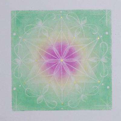 麻の葉模様の曼荼羅の記事に添付されている画像