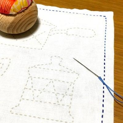 刺し子 キッチン 完成の記事に添付されている画像