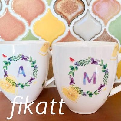 爽やかレモンのペアマグカップ♡体験レッスン作品の記事に添付されている画像