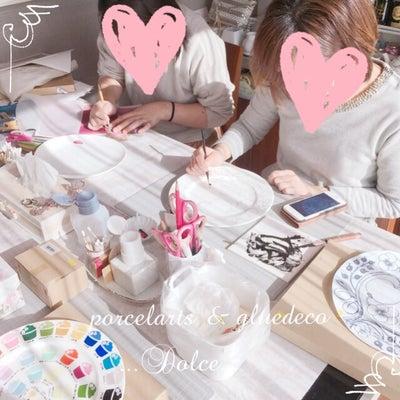 ポーセラーツインストラクター生のレッスンDAY♡の記事に添付されている画像