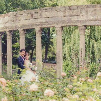 お花がいっぱいのモンソー公園でパリフォトウェディングの記事に添付されている画像