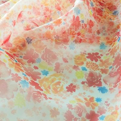 ドレス用広幅☆花いっぱいのオーガンジーで春をお届け**の記事に添付されている画像