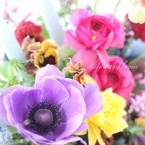 教室内は春の花でいっぱいです♪の記事に添付されている画像