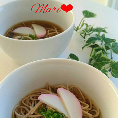 《レシピ有》麺つゆで簡単☆あったかお蕎麦、三姉妹の真ん中次女Maco。の記事に添付されている画像