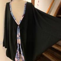 gouk薄手ニットの和柄切り替えモモンガ羽織の記事に添付されている画像