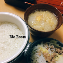 木曜の夜ごはん、白菜と牛肉の塩炒め煮、味噌汁の記事に添付されている画像