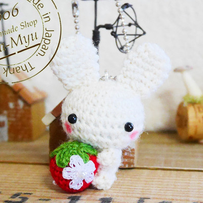【オーダー】イチゴ抱っこの白ウサギちゃん(Creema)の記事に添付されている画像
