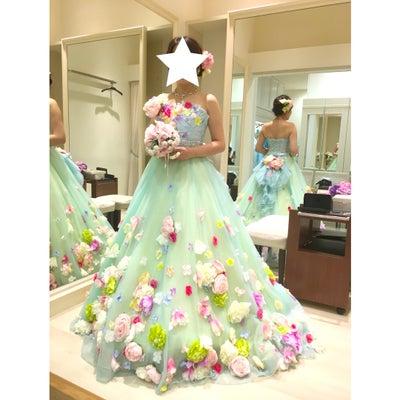 TAKAMI BRIDAL ドレス試着 CD.6 ブルーグリーン・アリッサの記事に添付されている画像